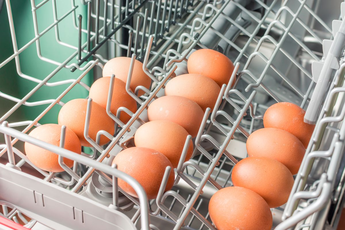 Eggs in the dishwasher