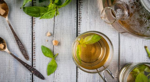 Basil tea, a drink to get rid of anxieties and excess toxins