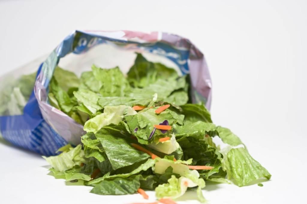 Salad in envelope