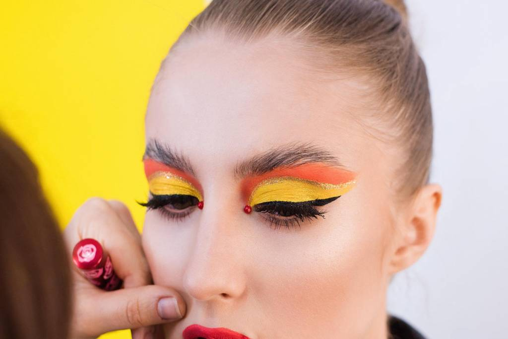 woman with over liner