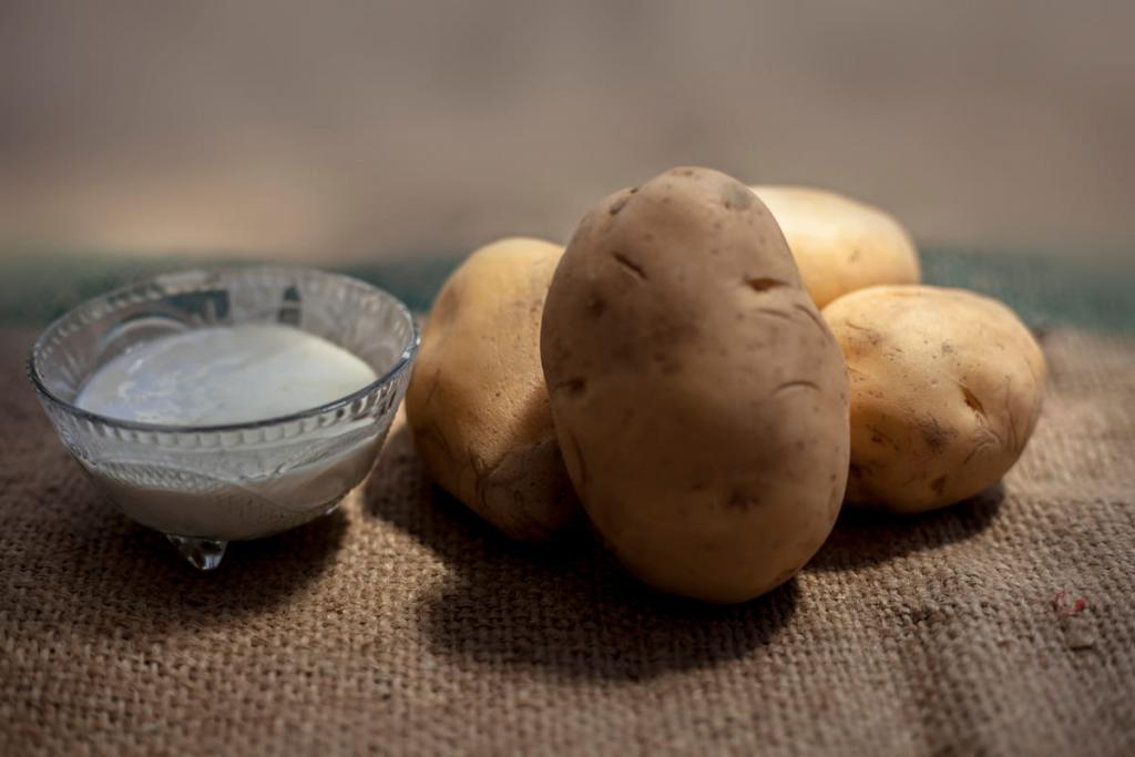 face cream with potatoes