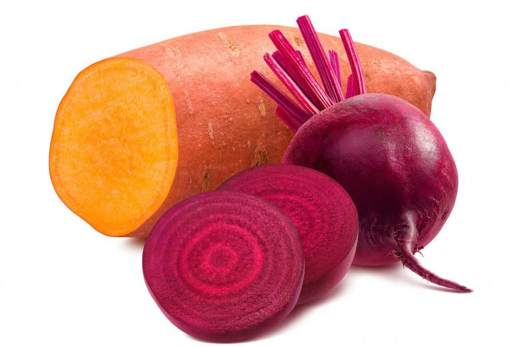 potato and beetroot