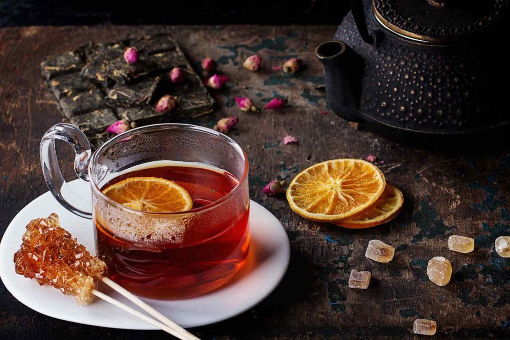 Orange blossom herbal tea