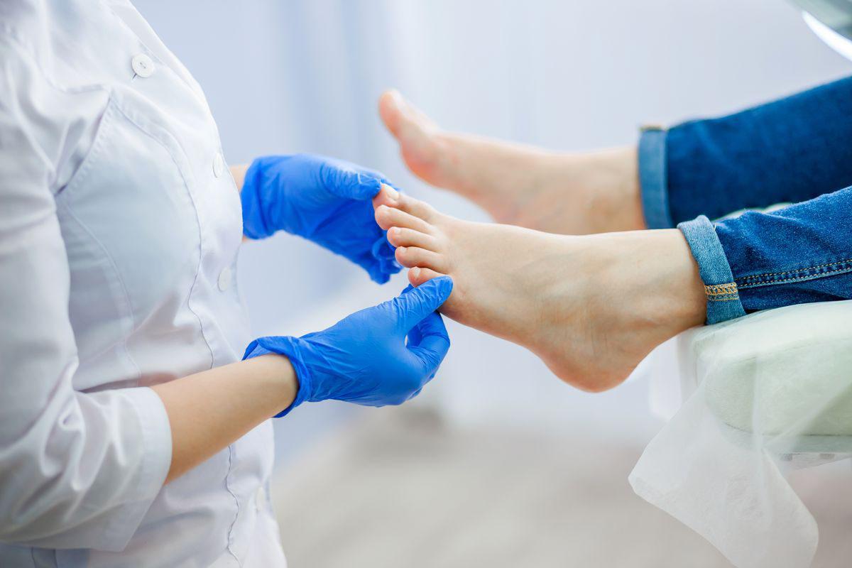 Dermatological examination of the feet