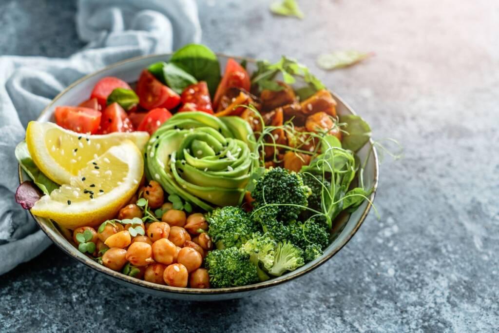 Vegan food boule