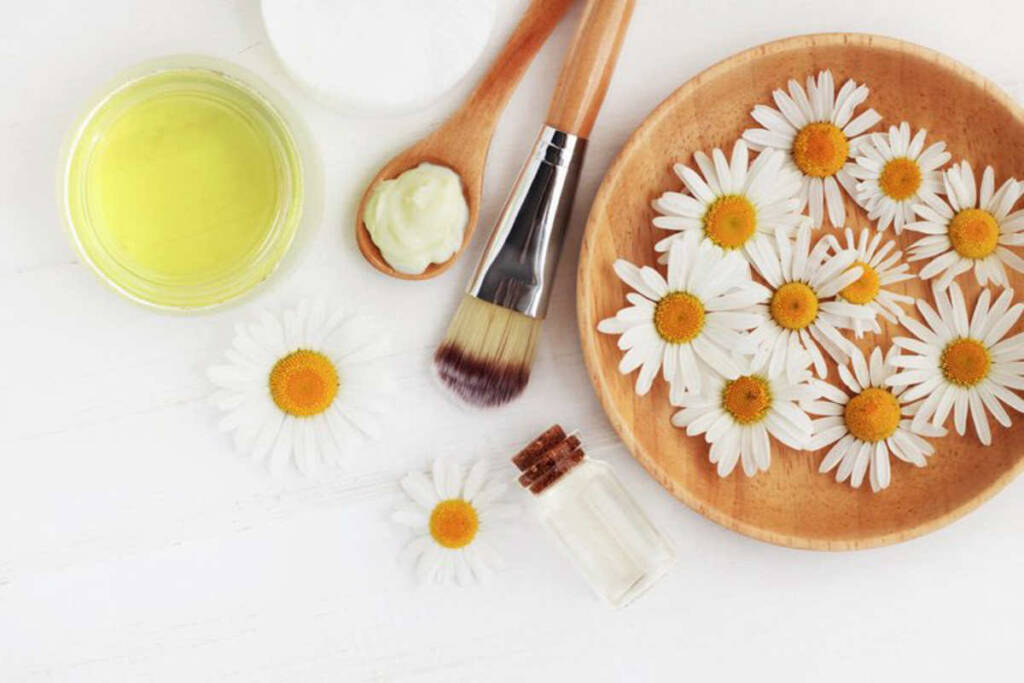 Compress with chamomile