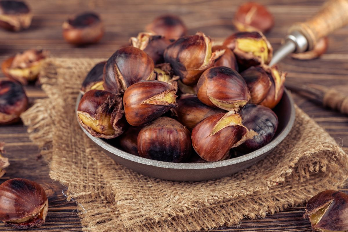 Chestnuts in a pan