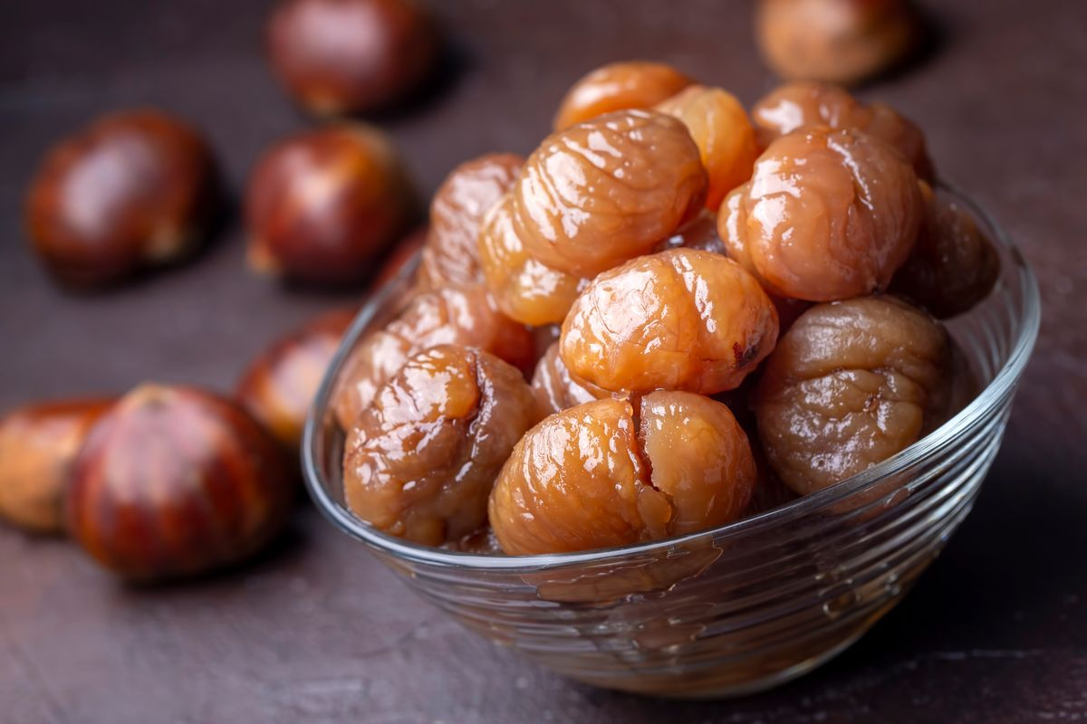 Chestnuts in syrup