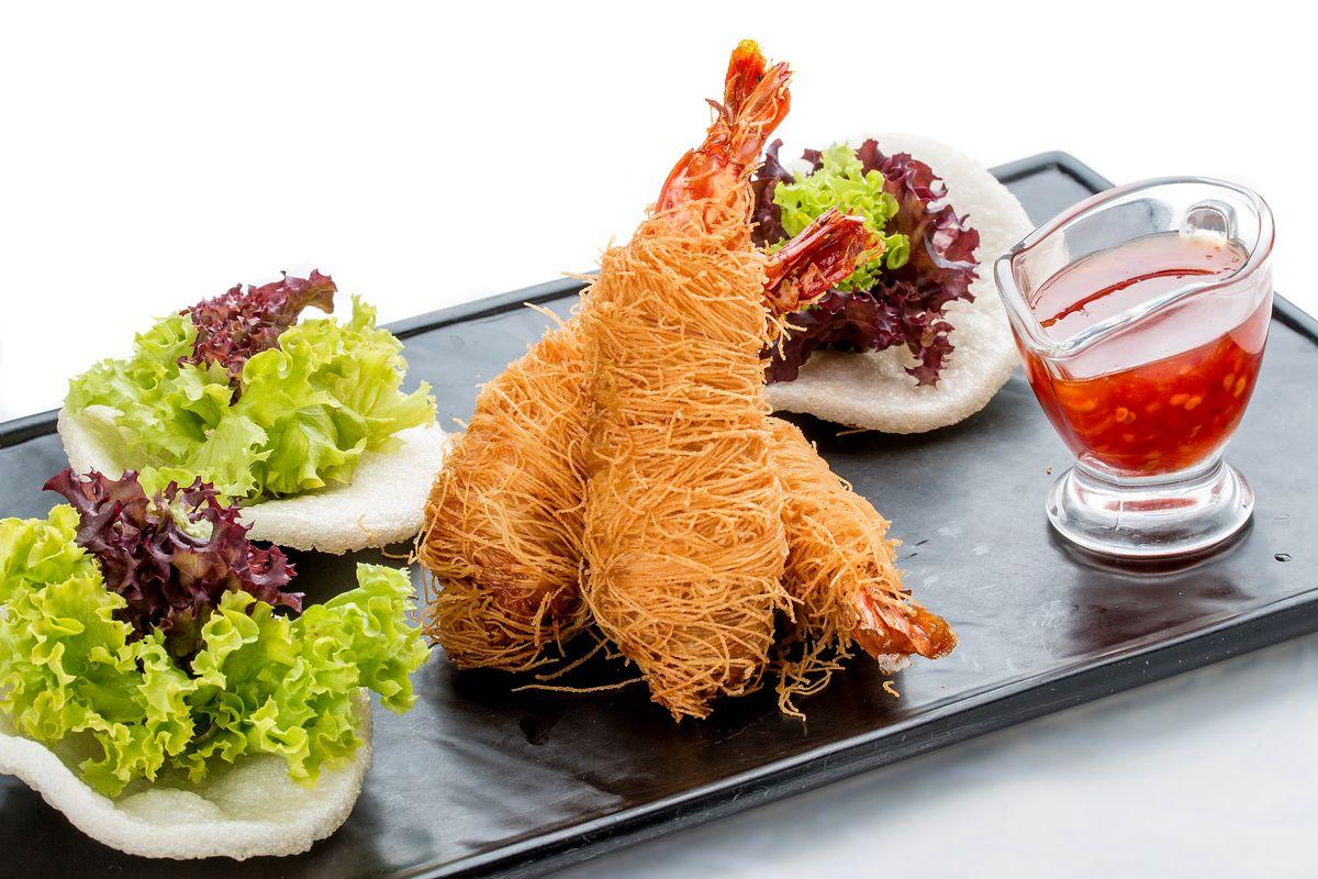Shrimp in kataifi paste
