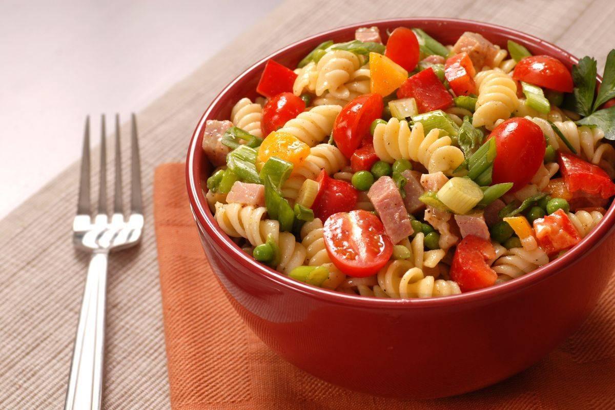 pasta and ham salad