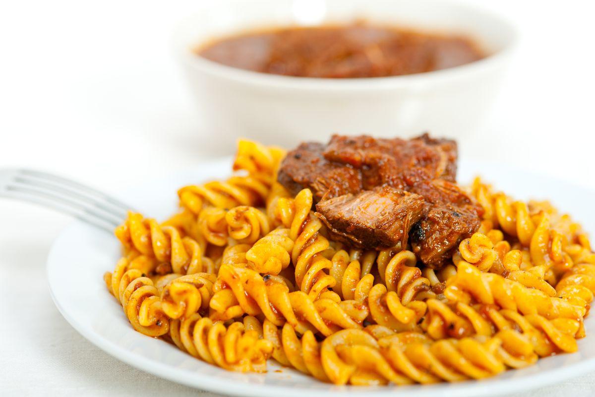Pasta with Lucanian ragout