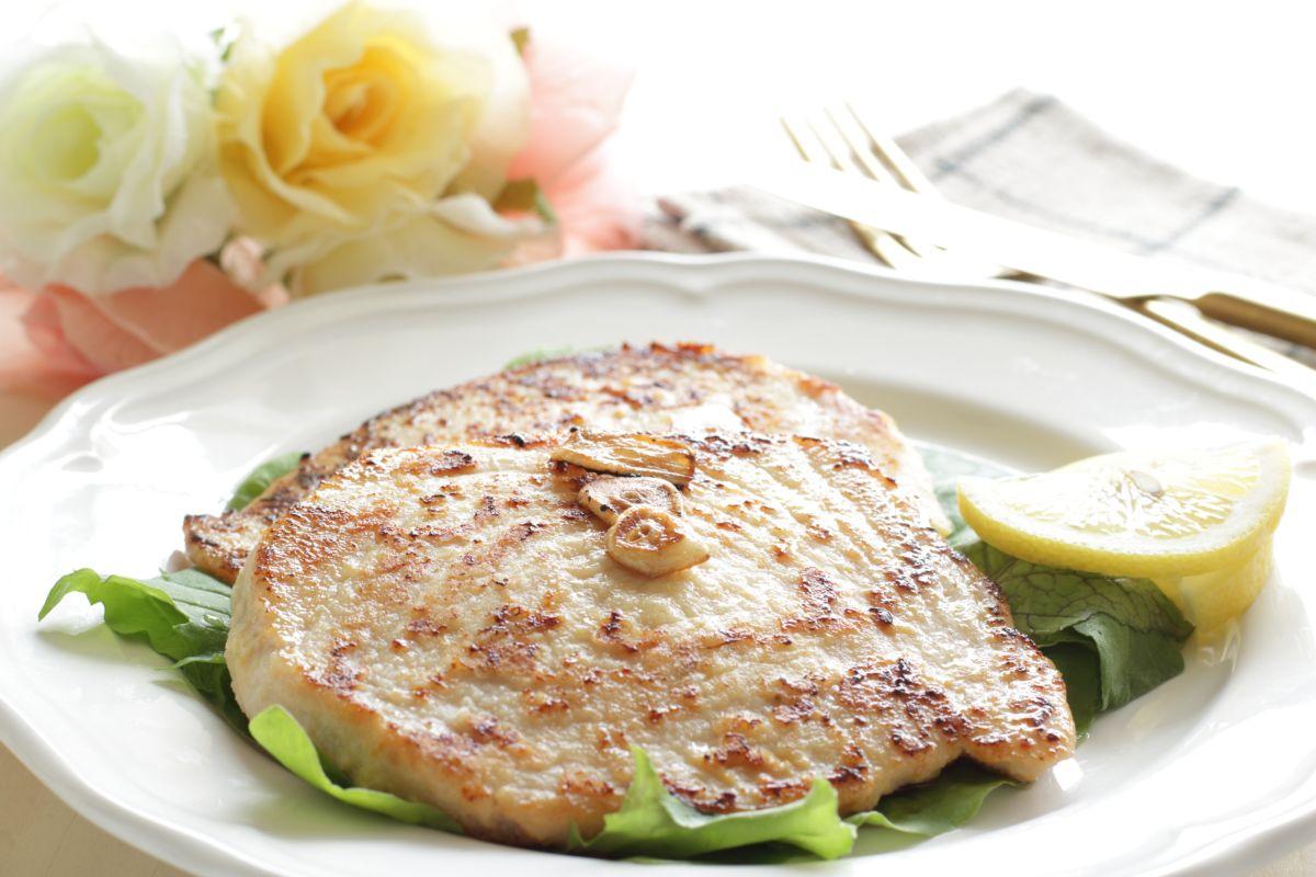 Pan-cooked Swordfish