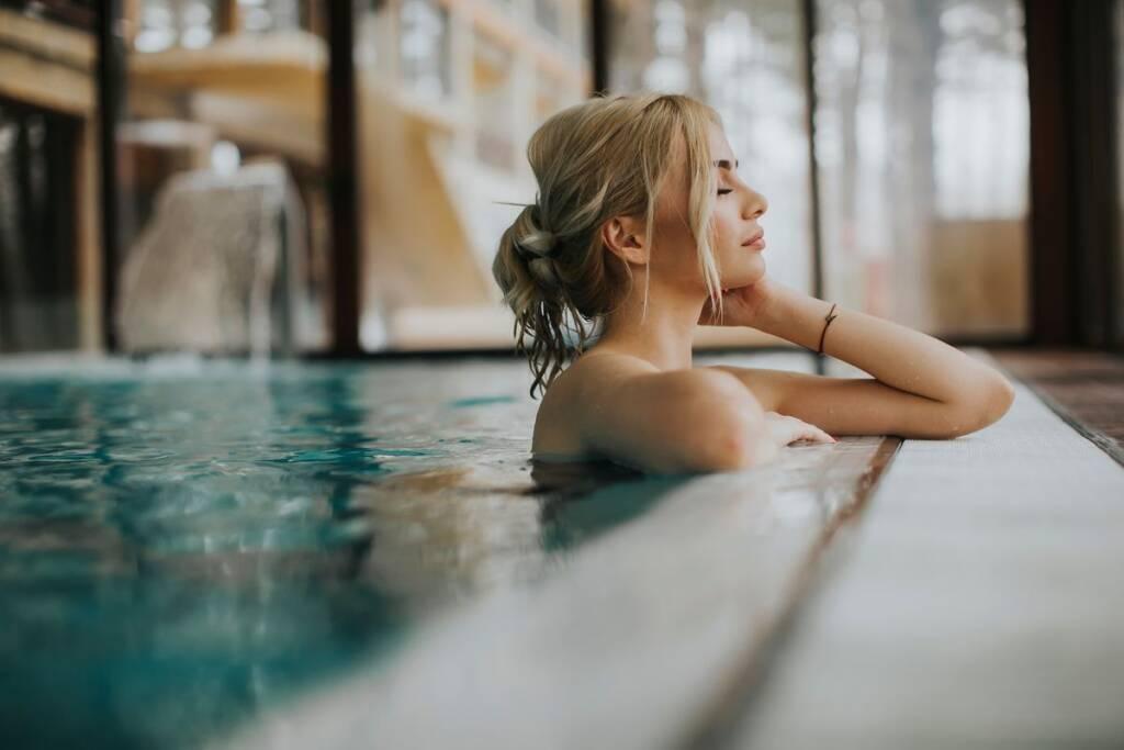 Girl at the spa