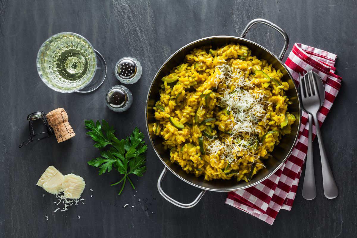 Zucchini and saffron risotto