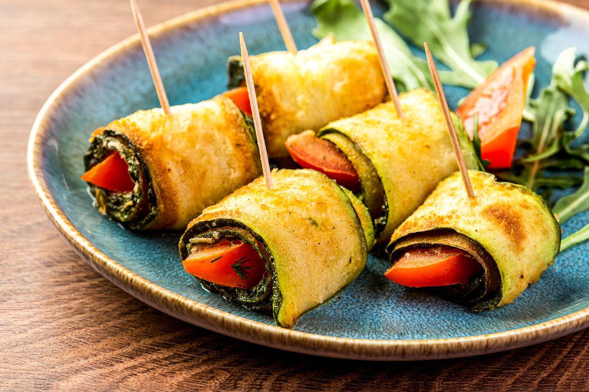 Fried zucchini rolls
