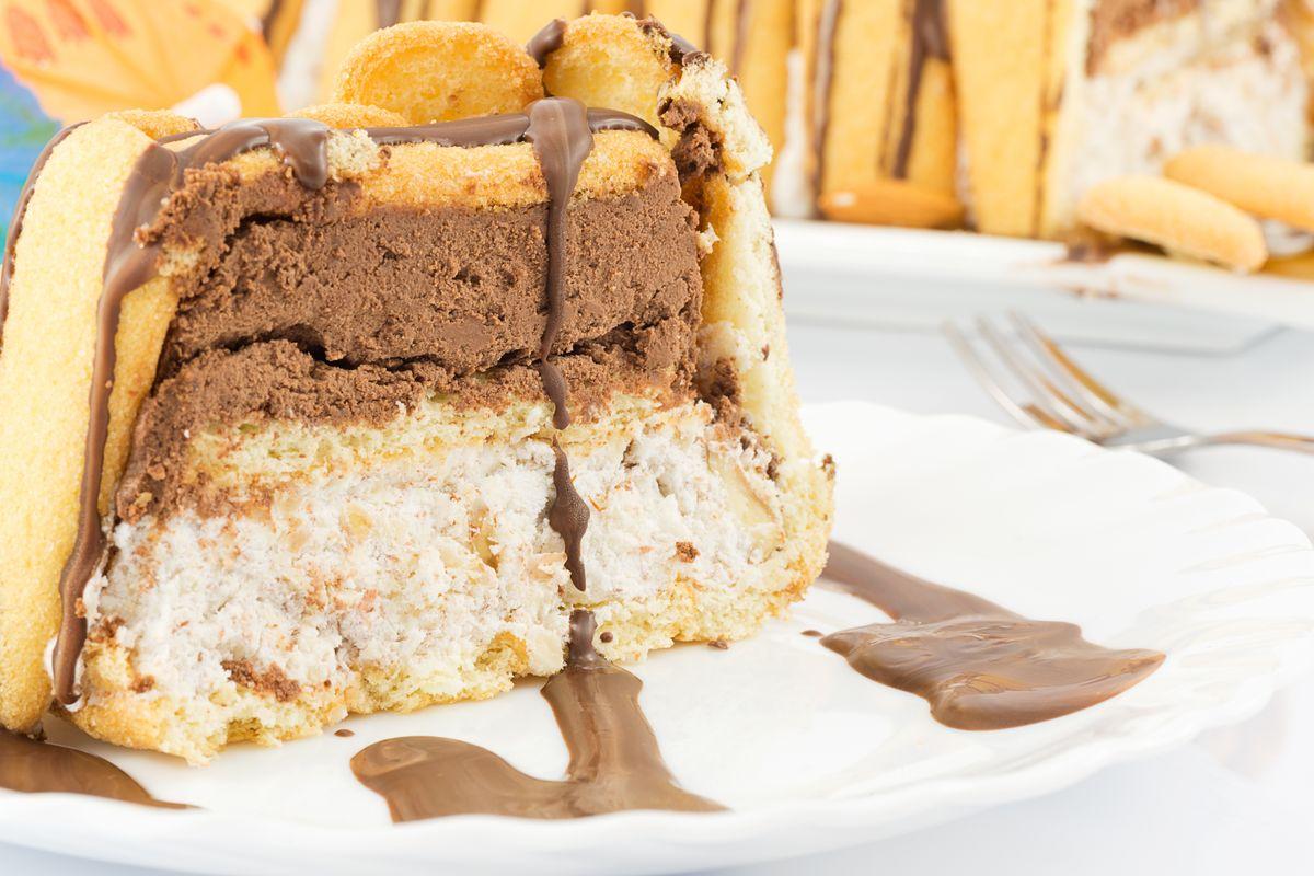 Pavesini Paradiso and Nutella cake