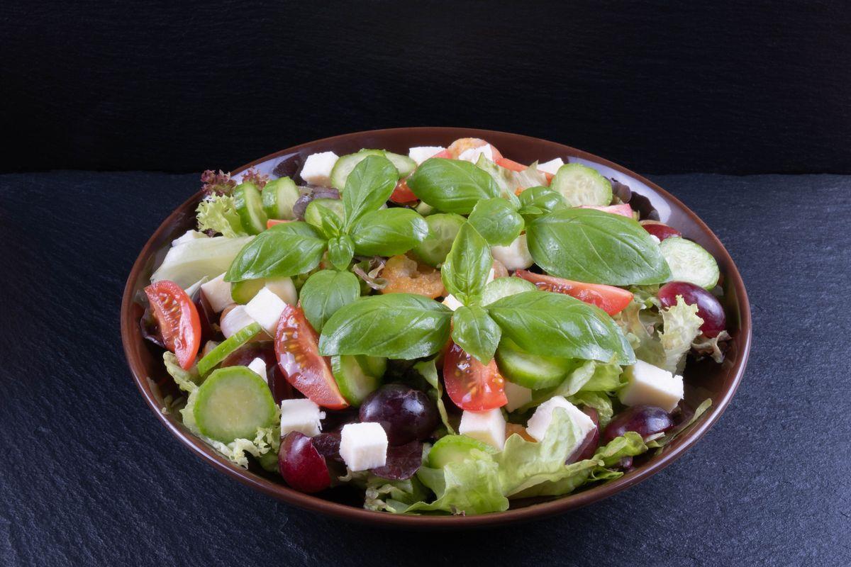 Grape and cucumber salad