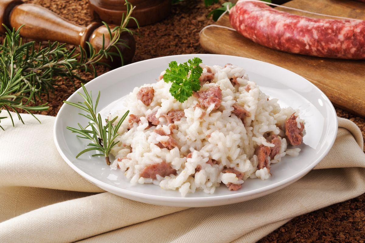 Risotto with salama da sugo