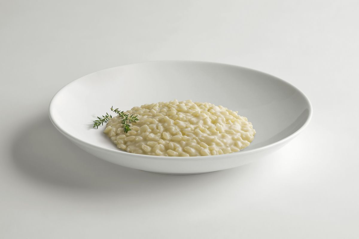 Risotto with sparkling wine