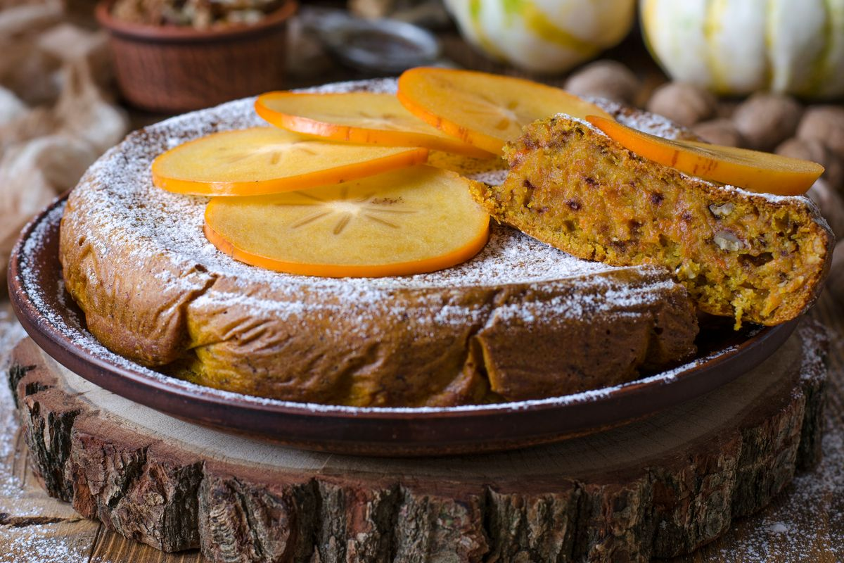 Gluten-free persimmon cake