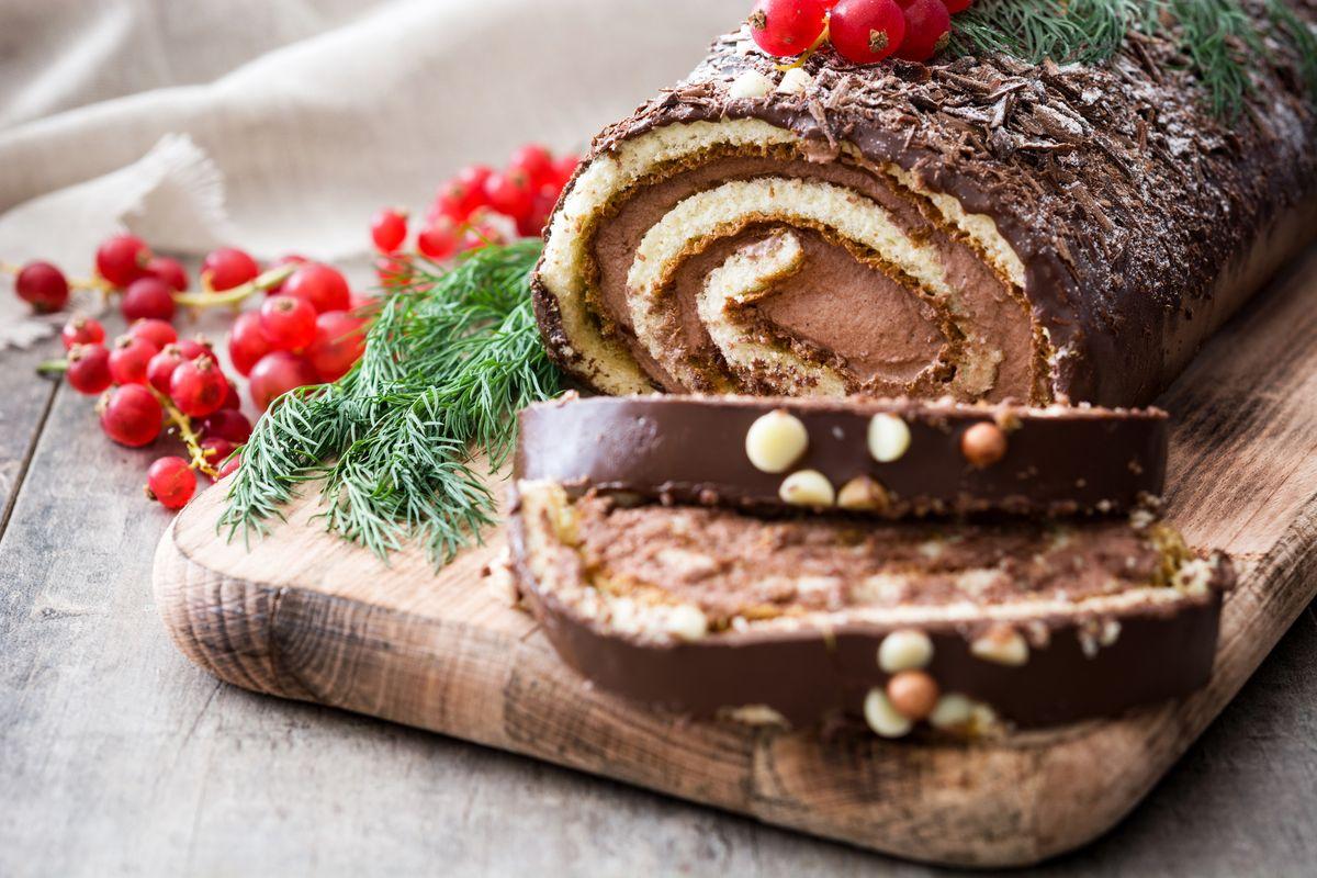 Gluten-free Christmas log
